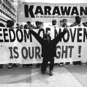 New Karawane information and mobilization flyer - English
